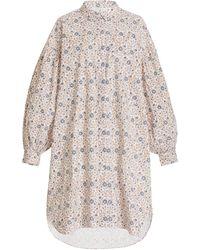 Hannah Artwear Byron Floral Cotton Shirt Dress - Multicolour