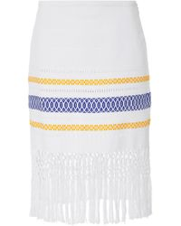 Jaline - Lola Handwoven Crochet Cotton Midi Skirt - Lyst