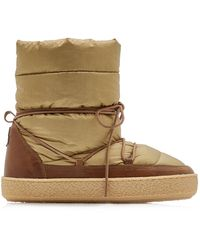 Isabel Marant Zimlee Leather-trimmed Nylon Puffer Boots - Brown