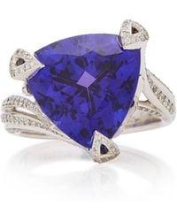 Akillis 18k Gold, Tanzanite And Diamond Ring - Blue
