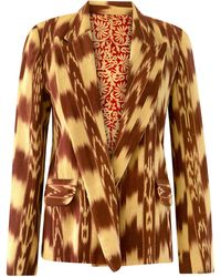 Alix Of Bohemia Dree Rusted Ikat Blazer - Multicolour