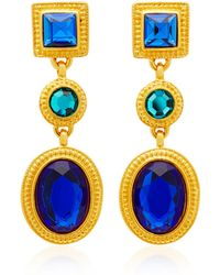 Ben-Amun - Gold-plated Crystal Earrings - Lyst