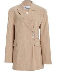 Ganni - Melange Suiting Jacket - Lyst