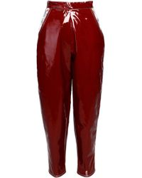 ANOUKI - Patent-leather Imitation Cropped Pants - Lyst