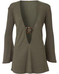 Dodo Bar Or Juanna Ribbed Jersey Mini Dress - Green