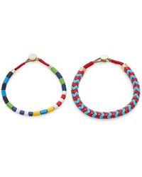 Roxanne Assoulin Set-of-two Rugby Enamel Bracelets - Multicolour