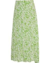Faithfull The Brand Cuesta Floral-print Crepe Midi Skirt - Green