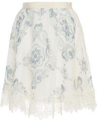 Sophia Kah - Serena Silk Printed Top With Piping - Lyst