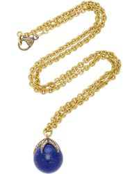 Sylva & Cie | 18k Gold, Lapis And Diamond Necklace | Lyst
