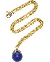 Sylva & Cie - 18k Gold, Lapis And Diamond Necklace - Lyst