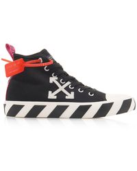 Off-White c/o Virgil Abloh Black And White Arrows Mid-top Sneakers