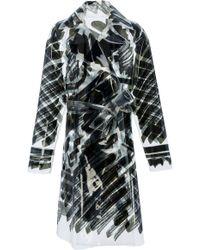 Moschino Black Scribble Trench Coat