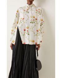 Simone Rocha Oversized Floral Cotton Shirt - Multicolour