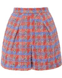Zac Posen - High-rise Tweed Shorts - Lyst