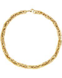 Fallon Bolt Gold-plated Brass Necklace - Metallic