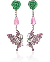 Wendy Yue - Pink Sapphire Butterfly Earrings - Lyst