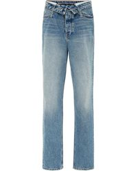 Alexander Wang Cult Flip Cropped Mid-rise Jeans - Blue