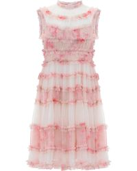 Needle & Thread Memory Frilled Tulle Dress - Pink