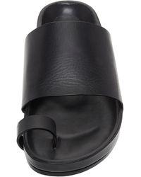 Jil Sander Leather Slides - Black