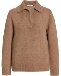 Vince Wool-cashmere Polo Sweater - Brown