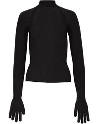 Peter Do Detachable Glove Cashmere-silk Sweater - Black