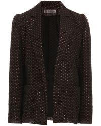 Lein Dotted Neck Tie Jacket - Black