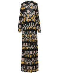 Rochas - Mystery Open-back Floral-print Silk-chiffon Gown - Lyst