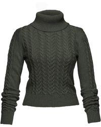 Lena Hoschek - Stanley Cable Knit Turtleneck - Lyst