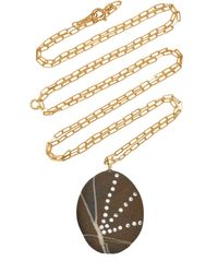 CVC Stones Rays 18k Gold, Diamond And Stone Necklace - Metallic