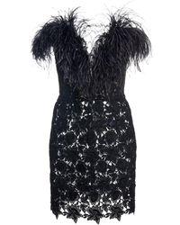 Ralph & Russo Ralph & Russo Guipure Lace Bustier Mini Dress - Black