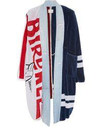 Greg Lauren Birdwell Towel Robe - Blue