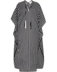 Marie France Van Damme Striped Cotton-silk Boubou - Black