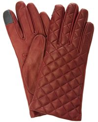 Maison Fabre Quilted Lambskin Gloves - Red