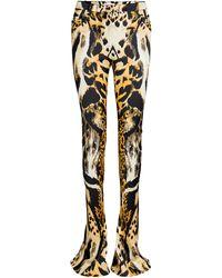 Unttld Armetis Cotton-blend Leopard Pant - Multicolour