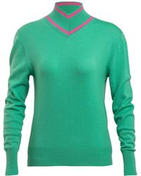 Maggie Marilyn Make A Difference Ribbed-knit Merino Wool Jumper - Green