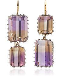 Renee Lewis Antique Ametrine Earrings - Purple