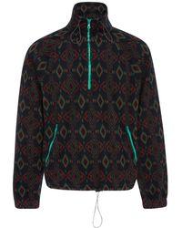 Lanvin - Half-zip Jacquard Fleece Jacket - Lyst