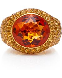 Gioia 18k Gold, Citrine And Yellow Sapphire Ring - Metallic