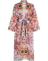 Alexis Georgiana Printed Robe Jacket - Pink