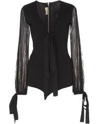 Elie Saab Knit Bodysuit - Black
