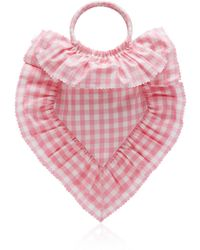 The Vampire's Wife Scallop Frill Sacred Heart Bag - Pink