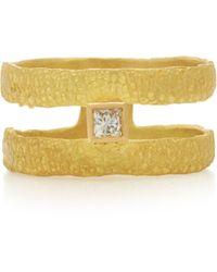 Orit Elhanati Roxy Graphic 18k Gold Diamond Ring - Metallic