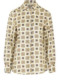 Giuliva Heritage Collection The Elvira Printed Cotton-blend Top - Multicolour