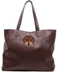 Del Toro - Brown Dachshund Tote Bag - Lyst