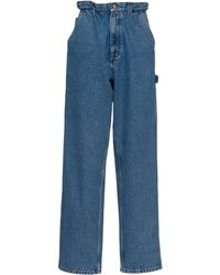 Miu Miu Iconic Rigid High-rise Straight-leg Blue Jeans