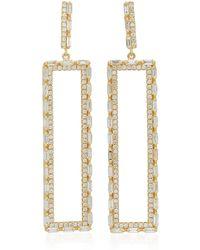 Suzanne Kalan - 18k Gold Diamond Earrings - Lyst