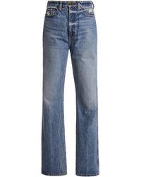 Khaite Danielle Rigid High-rise Straight-leg Jean - Blue
