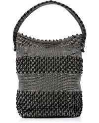 Antonello - Woven Cotton-canvas Bucket Tote - Lyst
