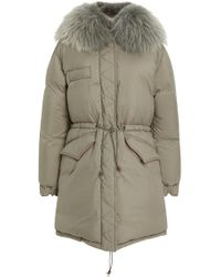 Mr & Mrs Italy - Fur-trimmed Quilted Shell Coat - Lyst