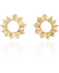 Nikos Koulis Fame Gold Hoop Earrings - Metallic